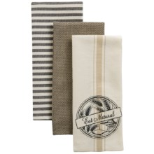 Kane Home Organic Cotton Kitchen Towels - Set of 3 in Eat Natural - Closeouts