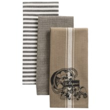 Kane Home Organic Cotton Kitchen Towels - Set of 3 in Go Organic - Closeouts