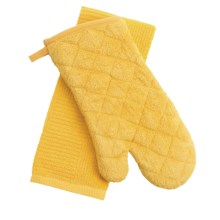 Kane Home Oven Mitt and Dish Towel Set in Lemon - Closeouts