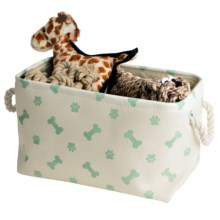 Kane Home Poly Paw Pet Storage Bin in Mint - Closeouts