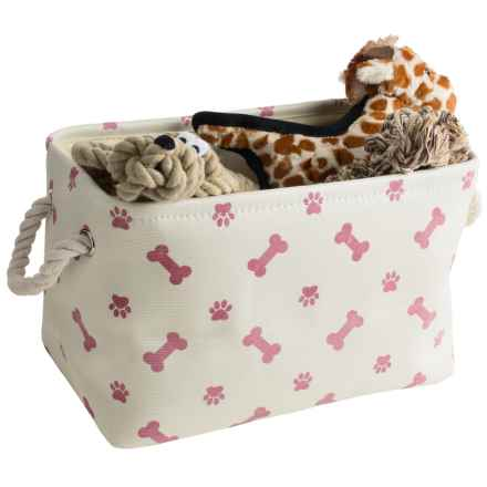 Kane Home Poly Paw Pet Storage Bin in Rose - Closeouts
