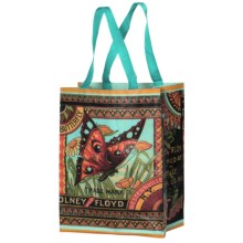 Kane Home Printed Eco Bag Reusable Shopping Tote Bag in Butterfly Crate Label - Closeouts