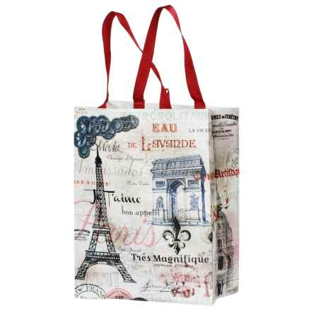 Kane Home Printed Eco Bag Reusable Shopping Tote Bag in French - Closeouts