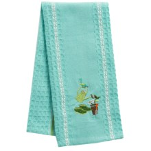 Kane Home Spring Embroidered Kitchen Towel in Garden Grow - Closeouts