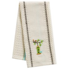 Kane Home Spring Embroidered Kitchen Towel in Hanging House - Closeouts