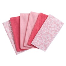 Kane Home Spring Fling Microfiber Dishcloths - Set of 6 in Candy Pink - Closeouts