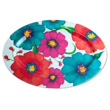 "Kane Home Summer Floral Serve Tray - Melamine,16x11x5.8"" in Floral - Closeouts"