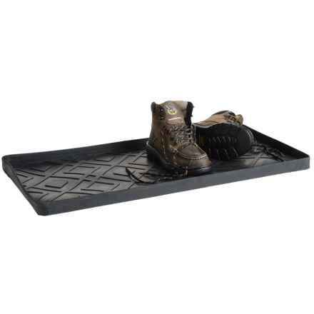 "Kane Home Waterproof Rubber Boot Tray - 30x15"" in Black - Closeouts"