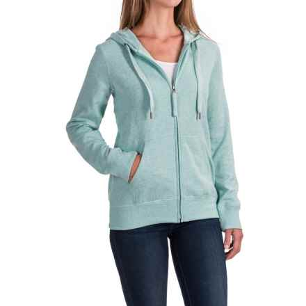 Kangaroo Pocket Hoodie - Full Zip (For Women) in Mint Heather - 2nds