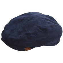 Kangol Cord Hudson Cap (For Men) in Navy - Closeouts
