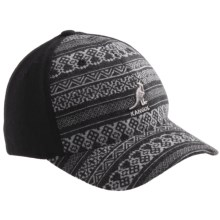 Kangol Geo Knit Baseball Cap - Flexfit (For Men) in Black - Closeouts