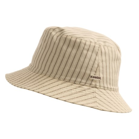 Kangol Heritage Check Spey Bucket Hat - (For Men and Women) in Boat Stripe