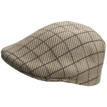 Kangol Jacquard Driving Cap (For Men) in Cheviot Tobacco - Closeouts
