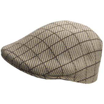 Kangol Jacquard Driving Cap (For Men) in Cheviot Tobacco