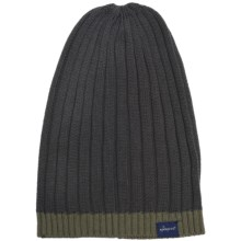 Kangol Multi-Rib Long Pull-On Beanie Hat (For Men) in Dark Flannel - Closeouts