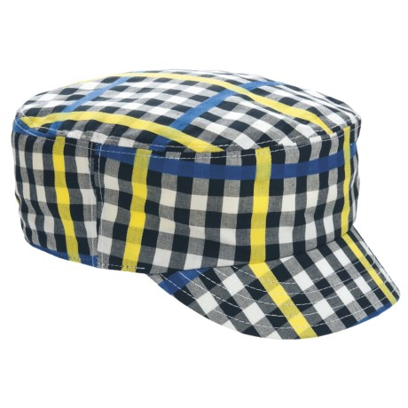 Kangol Neo Check Mau Cap (For Men and Women) in Gingham Check