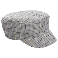 Kangol Neo Check Mau Cap (For Men and Women) in Graphite Check - Closeouts