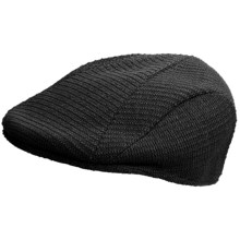 Kangol Seed Patch 507 Driving Cap (For Men) in Black - Closeouts