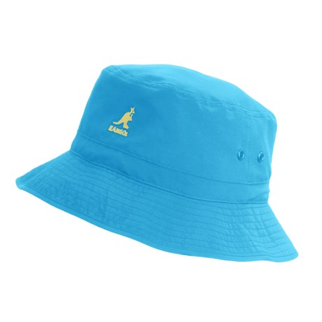 Kangol Summer Mountain Lahinch Bucket Hat (For Men and Women) in Topaz