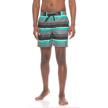 Kanu Surf Porta Volley Swim Trunks - UPF 50+, Built-In Briefs (For Men) in Black