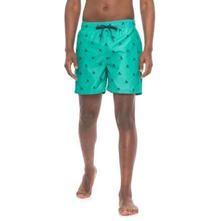 Kanu Surf Regatta Volley Swim Trunks - UPF 50+, Built-In Briefs (For Men) in Green - Closeouts