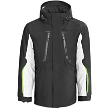 Karbon Apollo Jacket - Waterproof, Insulated (For Men) in Black/Arctic White/Lime - Closeouts