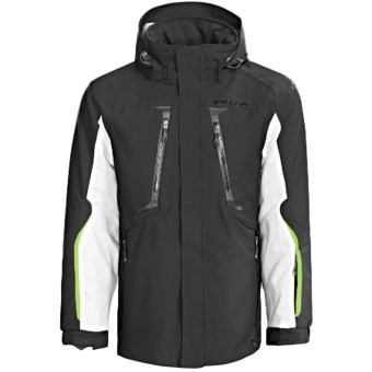 Karbon Apollo Jacket - Waterproof, Insulated (For Men) in Black/Arctic White/Lime