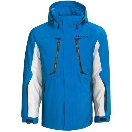 Karbon Apollo Jacket - Waterproof, Insulated (For Men) in Glacier Blue/Arctic White/Black