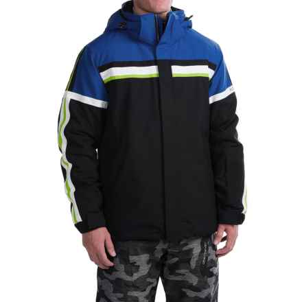 Karbon James Ski Jacket - Waterproof, Insulated (For Men) in Black/Blue - Closeouts