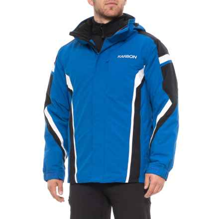 Karbon Jupiter Ski Jacket - Waterproof, Insulated (For Men) in Patriot Blue/Black/White - Closeouts