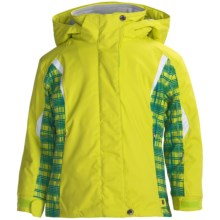Karbon Loreali Ski Jacket - Insulated (For Girls) in Lime/Lime Quartz/Arctic White - Closeouts