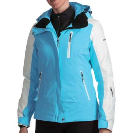Karbon Opal Ski Jacket - Waterproof, Insulated (For Women) in Cayman Blue/Arctic White