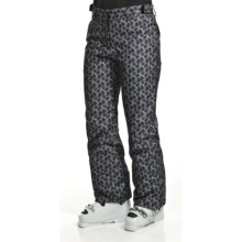 Karbon Prase Snow Pants - Waterproof, Insulated (For Women) in Black Flower - Closeouts