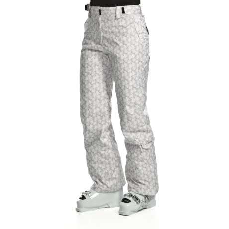Karbon Prase Snow Pants - Waterproof, Insulated (For Women) in White Flower