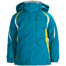 Karbon Sookie Ski Jacket - Insulated (For Girls) in Electric Blue/Lime/Arctic White - Closeouts