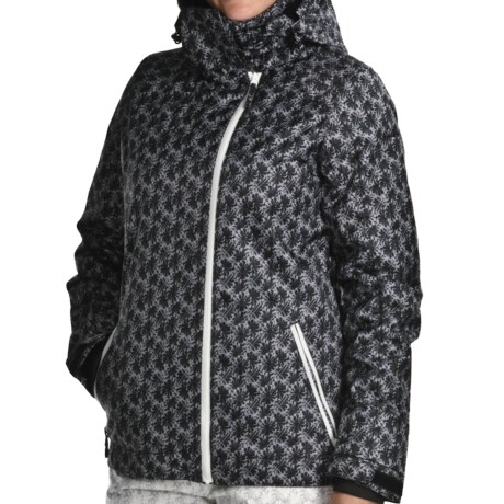 Karbon Taurus Jacket - Waterproof, Insulated (For Women) in Black Flower