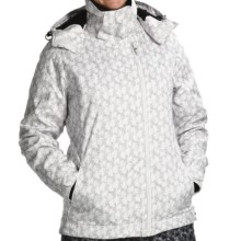Karbon Taurus Jacket - Waterproof, Insulated (For Women) in White Flower - Closeouts