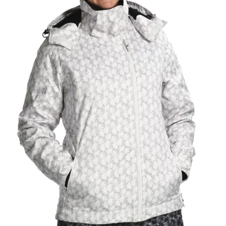Karbon Taurus Jacket - Waterproof, Insulated (For Women) in White Flower