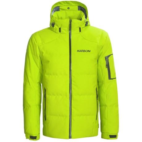 Karbon Thor Down Ski Jacket (For Men) in Lime/Black