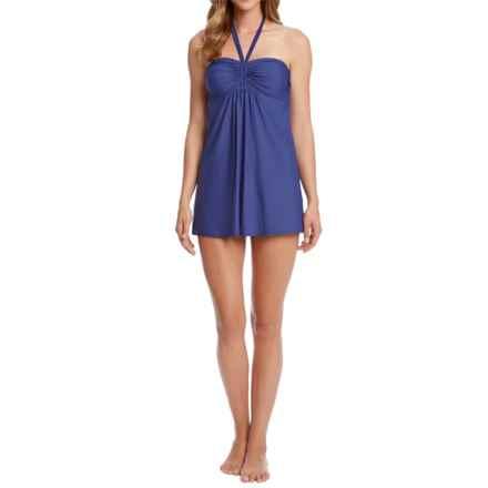 Karen Kane Florence Halter Swim Dress (For Women) in Navy - Overstock