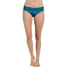 Karen Kane Montego Brief Bikini Bottoms (For Women) in Navy Turquoise - Overstock