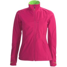 Karhu Delta Soft Shell Jacket (For Women) in Fuchsia/Lime - Closeouts