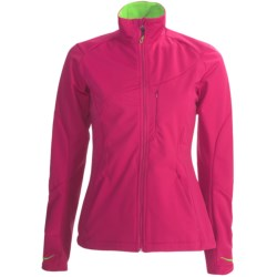 Karhu Delta Soft Shell Jacket (For Women) in Fuchsia/Lime