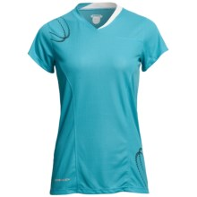 Karhu Fast Running T-Shirt - Short Sleeve (For Women) in Teal/Black - Closeouts