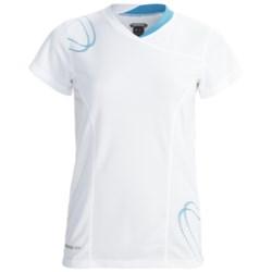 Karhu Fast Running T-Shirt - Short Sleeve (For Women) in White/Teal