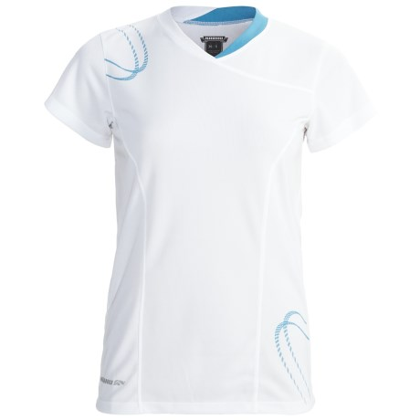 Karhu Fast Running T-Shirt - Short Sleeve (For Women) in White/Teal