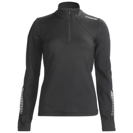 Karhu Forward Pullover - Zip Neck, Long Sleeve (For Women) in Black