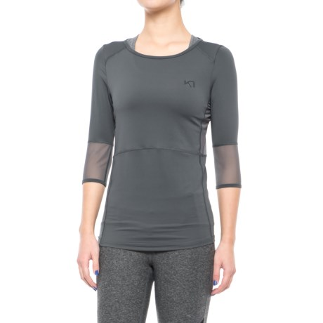 Kari Traa Kaia Shirt - 3/4 Sleeve (For Women) in Ebony