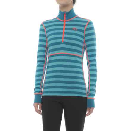 Kari Traa Ulla Base Layer Top - Merino Wool, Zip Neck, Long Sleeve (For Women) in Nsea - Closeouts