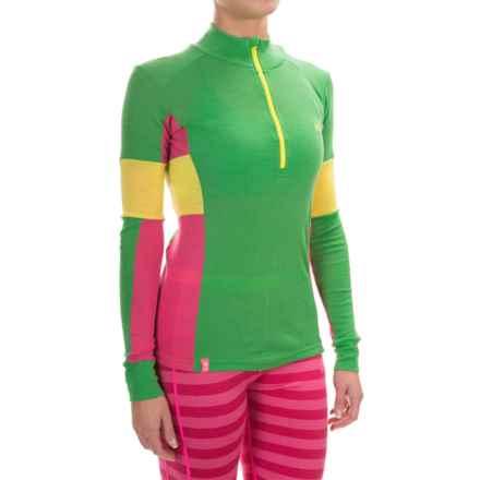 Kari Traa Vossa Base Layer Top - Merino Wool, Zip Neck, Long Sleeve (For Women) in Grass - Closeouts